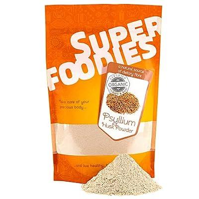 Superfoodies 100% Pure High Grade Ground Psyllium Husk Powder 250G (50 Daily Servings) - High Source of Fibre, Organic, Helps Gut Health & Digestion, Keto Baking