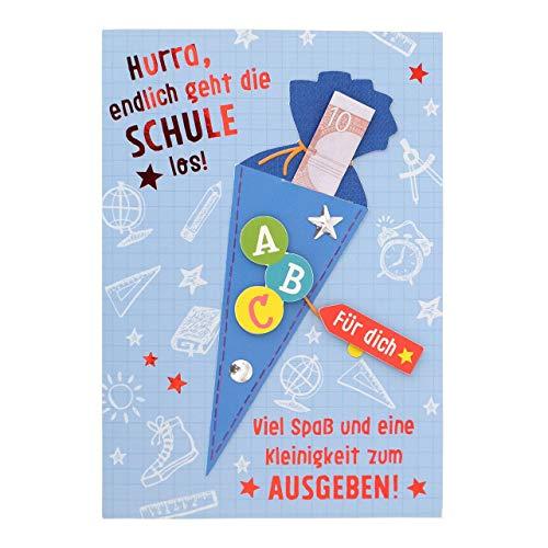 Sheepworld - 45935 - Klappkarte, mit Umschlag, Schulanfang, Geldgeschenk, Hurra, endlich geht die Schule los!