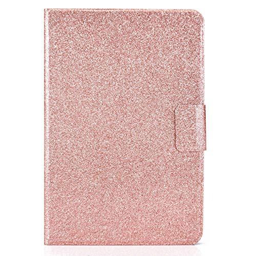 Miagon für Samsung Galaxy Tab S5e T720 {10.5 Zoll} Glitzer Hülle,Schutzhülle mit Magnetisch Auto-Einschlaf/Aufwach PU Leder Smart Flip Stand Cover,Roségold