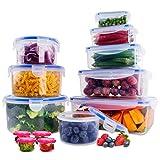 SYOSIN Set di Contenitori per Alimenti 26 Pezzi (13 contenitori e 13 coperchi), Adatto per lavastoviglie, forni, a microonde e congelatori privi di BPA, FDA e FSC