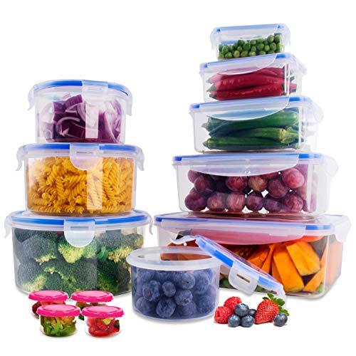 SYOSIN Frischhaltedosen Set klick-it 28 TLG-Frischhaltedosen aus Kunststoff mit Deckel-Aufbewahrung von Kunststoffbehältern mit Deckel, auslaufsichere Organisation für Küche und Speisekammer-BPA-frei