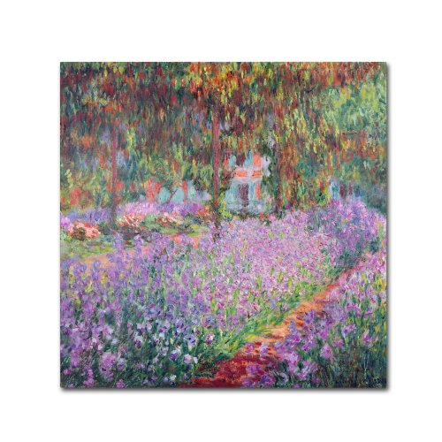 Theist's Garden at Giverny by Claude Monet work, 35 by 35-Inch Canvas Wall Art