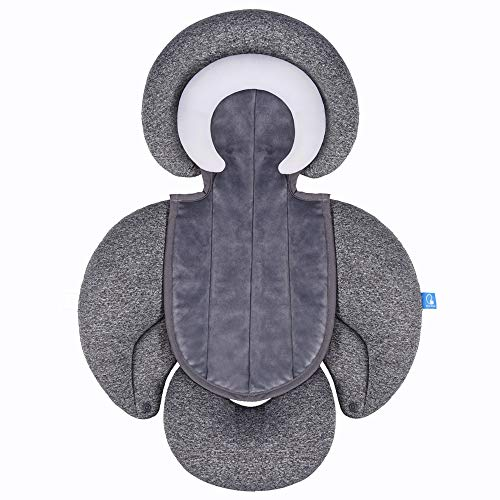 COOLBEBE New 2-in-1 Head & Body Supports for Baby Newborn Infants - Extra Soft Stroller Cushion Pads Car Seat Insert, Prefect for All Seasons
