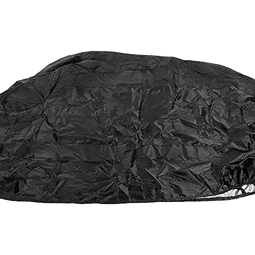 qinjun Funda de motocicleta impermeable, para todas las estaciones, impermeable Sun 104 pulgadas XXXL 210D Nylon Oxford tela al aire libre moto scooter cubiertas con broche y bolsa de nylon