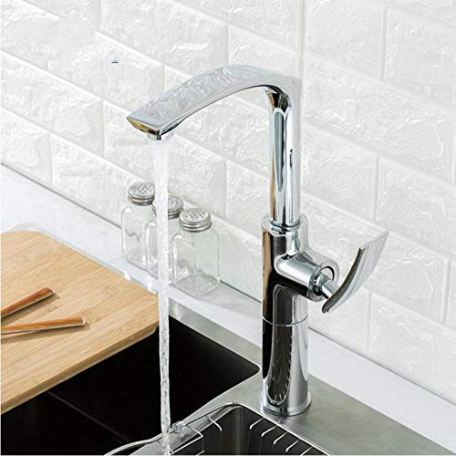 Enkele handgreep keuken standaard mixer hoog chroom wastafel kraan badkamer kraan hoogte verstelbare warm en koud mixer kranen