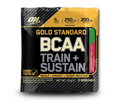 Optimum Nutrition Gold Standard BCAA Powder Sachets, Strawberry Kiwi, Box of 24
