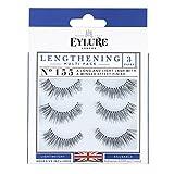 Eylure Lengthening False Eyelashes Multipack, Style No. 155, Reusable,...