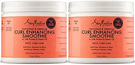 Shea Moisture Coconut and Hibiscus Curl Enhancing Smoothie | Family Size | 16 oz. (2 Pack)