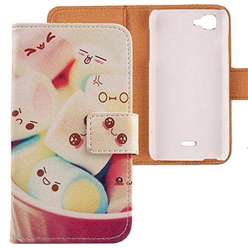 Lankashi PU Flip Leder Tasche Hülle Case Cover Schutz Handy Etui Skin Für Wiko Kite 4G Lovely Design
