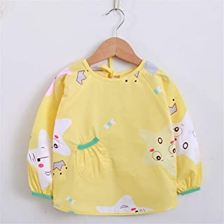 0-3 Years Old Cotton Long-sleeved Bib Anti-dressing Baby Eating Protective Clothing Waterproof Anti-dirty Bib For Infant T...