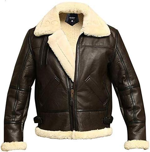 Men B3 Bomber Aviator Shearling Jacket Oakland Mall Sheepskin Leather Winter New life