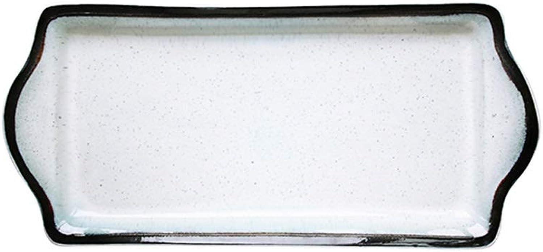 Assiette En Céramique La Vaisselle De Cuisson Rectangulaire De Qualité à Usage Domestique Et De Restauration (taille   15.7 Inch)