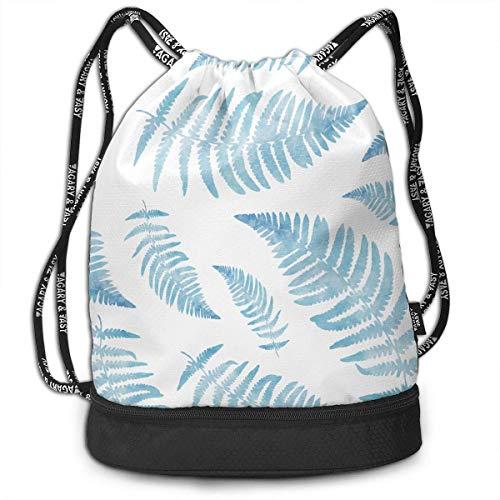 zhangyuB New Zealand Maori Fern Kordelzugbeutel Swim Sport Cinch Sackpack Large Capacity Beam Backpack, Home Travel Storage Use Gift for Men & Women, Girls Boys