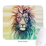 Lion Portrait Mouse Mat Premium-Textured Mouse Pad Waterproof Mousepad