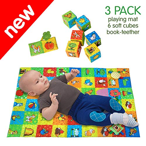 MACIK PlayingMat+6 soft blocks for baby...