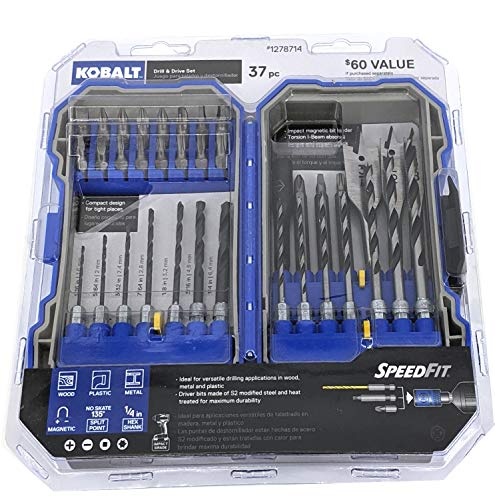 Kobalt 37 piece Twist Drill Bit & Drive Set