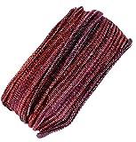 Guru-Shop Magic Hairband, Dread Wrap, Schlauchschal, Stirnband, Herren/Damen, Haarband Rot/weiß, Baumwolle, Size:One Size, Stirnbänder Alternative Bekleidung