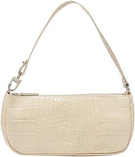 Damen Schultertasche Krokodilmuster Leder Unterarm-Paket Frauen Clutch Bag, Retro Krokoprägung Schultertasche Handtaschen ...