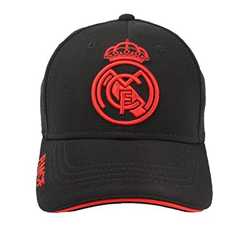 Real Madrid FC Gorra Adulto Producto Oficial Negra Rojo 2018/2019