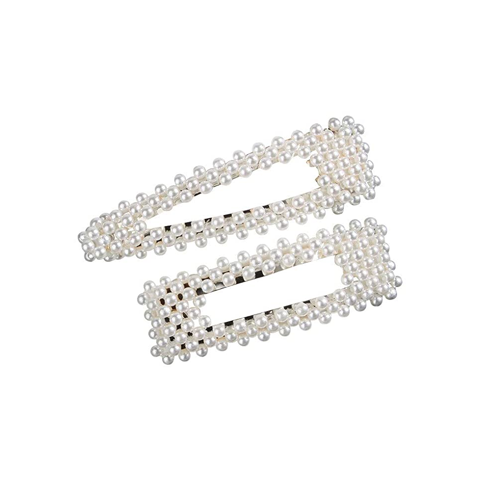 Beppter 2pcs Pearls Hair Clips for Women Girls/Birthday Gifts Hairpins Headwear Barrette Styling Tools Accessories