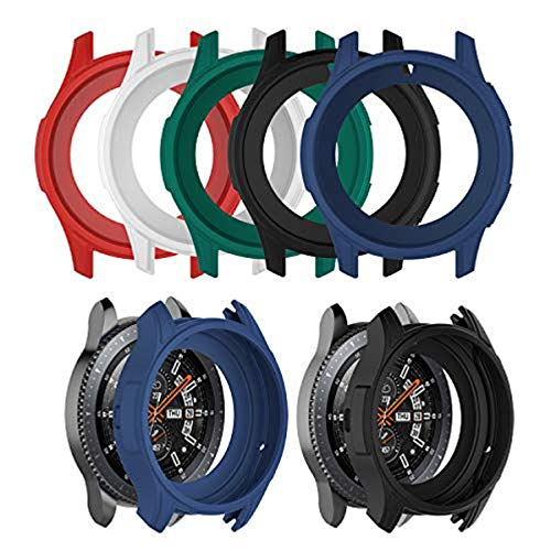 Chofit Case for Galaxy Watch 46mm Case Silicone Shock-Proof Protector Cover Case Compatible with Samsung Galaxy Watch 46MM / Gear S3 Frontier Smartwatch (Multicolor-5pcs)