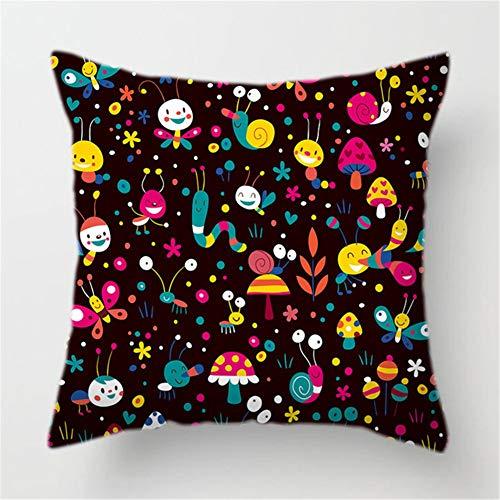 Dekorative Kissenbezüge Cartoon Anime Kissenbezüge Platz Samt Sanft Throw Pillow Covers für Auto Schlafsofa Kissenhülle mit Verstecktem Reißverschluss Deko Kissenbezug Pillowcase+core,40x40cm T388