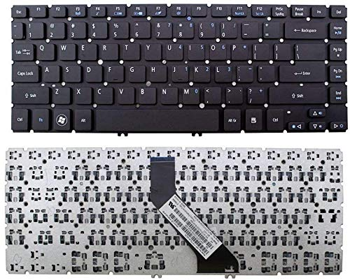 Laptop Keyboard Replacement for Acer Aspire V5-472 V5-472G V5-472P V7-482PG V5-473 V5-473G V5-473P V5-473PG PNMP-13G13U4-920 AEZQYR00110 Without Frame US Layout Black Color
