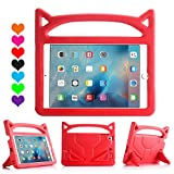 All-New iPad 2019/2018 9.7 inch Case/iPad Air Case, Riaour Light Weight Shock Proof Handle Stand Kids Case for iPad 9.7 2017/2018 iPad Air/iPad Air 2/iPad Pro 9.7 (Purple)