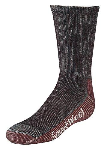 SmartWool Kids' Hike Light Crew Socks (Light Gray) Large