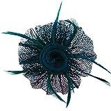 Pinza spilla a forma di fiore di loto (verde, rosa, rosso, rosa, arancione, blu) Bleu / Vert Taglia unica