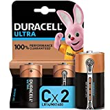 Duracell LR14 MN1400 Ultra C con Powercheck - Batteria Alcalina, Confezione da 2, 1.5 V