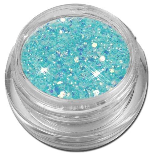 Glamour Mix Glitter Glitzer Puder Blau Türkis Irisierend Nailart