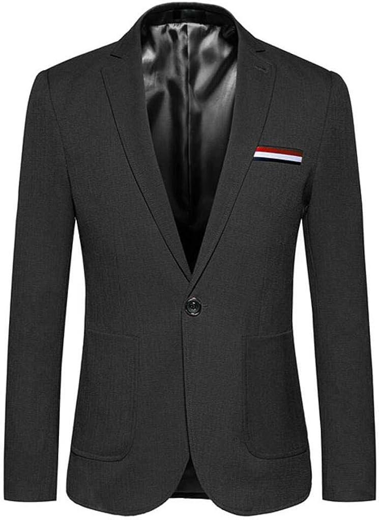 Fashion Men's Dark Khaki Casual Jackets One Button Peak Lapel Suit Blazer Tuxedo Waistcoat