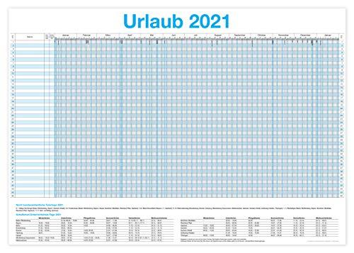 XXL Urlaubsplaner 2021 / Personalplaner - bis zu 45 Mitarbeiter I 13 Monate + Gratis Wandkalender 2021 (86 x 59 cm)
