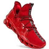 Dabbiqs Herren Sportschuhe Laufschuhe Mesh Leichtgewicht Gym Athletic Sport Fitness Sneakers, Rot - rot - Größe: 45 EU