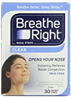 Breathe Right Nasal Strips, Small/Medium, Clear (Clear - 90 Count) by Breathe Right