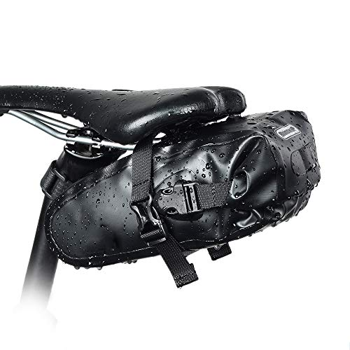 DZGN Fahrradtasche, Fahrradtasche mit Zwischenlage Lagerung Schlussleuchte Lanyard Reflective Entwurf, für Fahrrad
