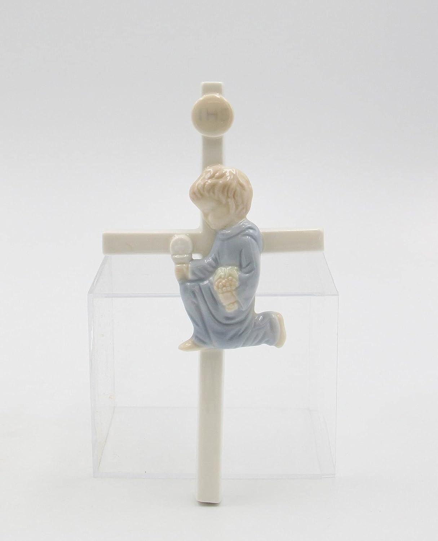 Fine Porcelain Gorgeous Inspirational First Boy Max 59% OFF Cross Communion Figurine