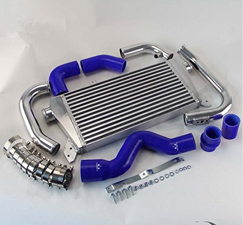 GOWE Intercooler Kit for New Front Mount Intercooler Kit for Audi A4 1.8T Turbo B6 Quattro 2002-2006 BLUE