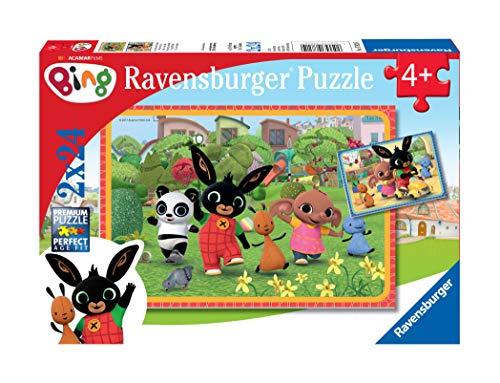 Ravensburger puzzel Bing Bunny - Twee puzzels - 24 stukjes - kinderpuzzel
