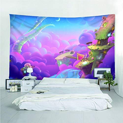 Fymm Tapijt, 3D print, roze, fantasie, cartoon, lichte sprei, draagbaar, multifunctioneel, voor strand 150(H)X150(L)Cm
