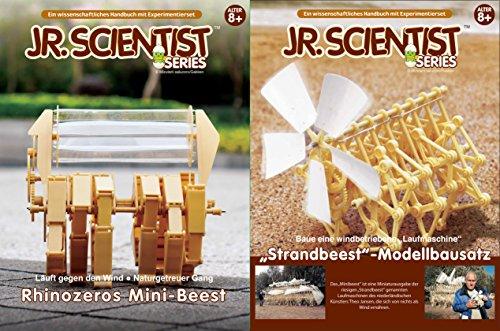 Set Strandbeest + Rhinozeros Mini-Beest nach Theo Jansen EDU-Toys DIY Set mit Lehrbuch in Deutscher + englischer Sprache