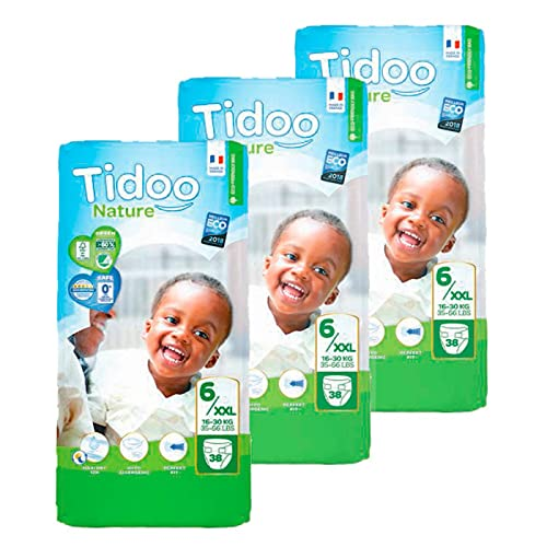 Pack pañales T6-XL (16/30 kg) Tidoo, 114 unidades