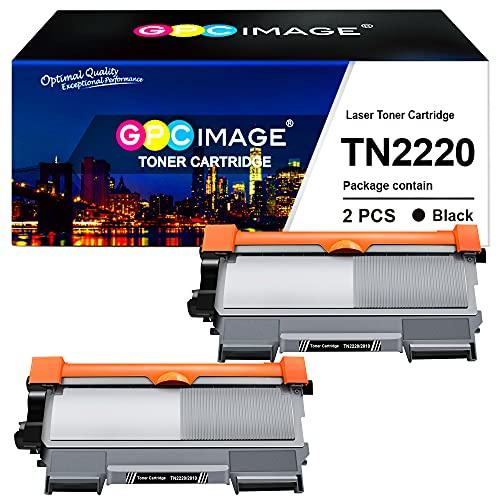 GPC Image Kompatible Tonerkartusche für Brother TN2220 TN2010 für HL-2130 MFC-7360N DCP-7055 DCP-7055W HL-2240 HL-2250DN HL-2270DW MFC-7460DN MFC-7860DW FAX-2840 (Schwarz, 2er-Pack)