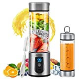 Portable Blender, Personal Smoothie Blender with USB Rechargeable, AHNR 15oz Small Mini Blender...