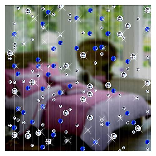 DUNRU Cortinas De Borla 6M Crystal Bead Cortina Moda Lujo Hogar Sala de Estar Decoración Decoración de la Boda Decoración Cortinas De Perlas (Color : Blue)