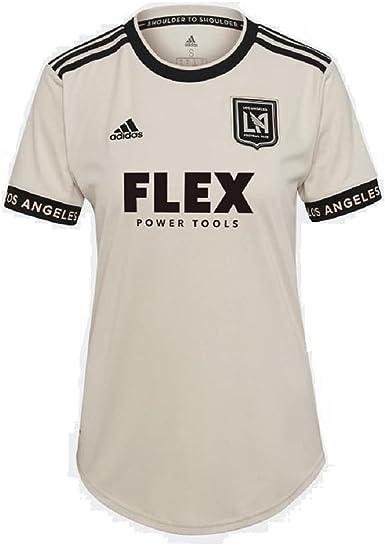 adidas 2021-22 LAFC Women Away Jersey - Beige-Black