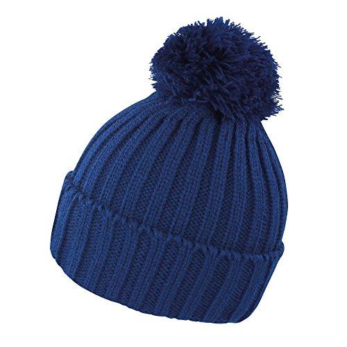Result - Bonnet tricoté - Adulte Unisexe (Taille Unique) (Bleu Marine)