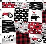 Patchwork, Kuh, Traktor, Maserung Stoffe - Individuell