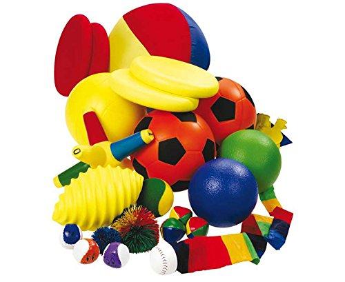 Betzold 50689 - Ball-Set mit Bigbag - Verschiedene Bälle für den Sportunterricht, Fußball, Softball